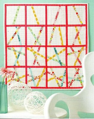 """""""pick Up Sticks"""" Quilting Pattern--25"""" Square"""