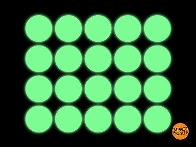 Guitar Fret markers. Glow in the dark spots - 3M 6900 luminescent Film