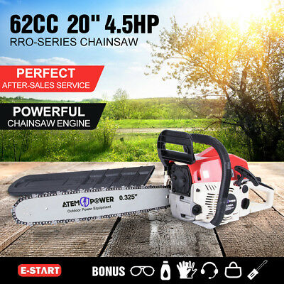 62cc Petrol Commercial Chainsaw 20inch Bar 4.5HP Pruning Chain Saw