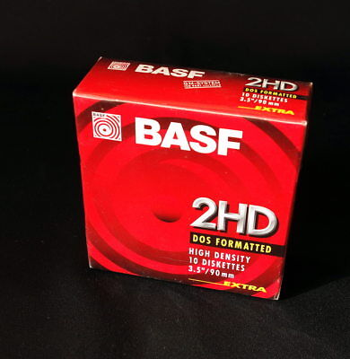 *** Pack De 10 Disquettes 1.44Mb - 3M Basf Formated 1.4Mb - Neuves / Blister ***