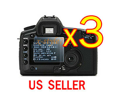 3x Clear LCD Screen Protector Guard Film For Canon EOS 40D 50D 5D 5D II