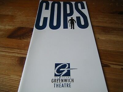 Theatre  Programme  -  Cops  -   At The Greenwich Theatre   In  Vgc