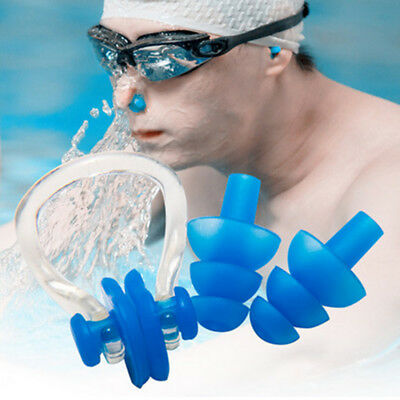 Waterproof Soft Silicone Swimming Set Nose Clip + Ear Plug Resuable Breath CombS