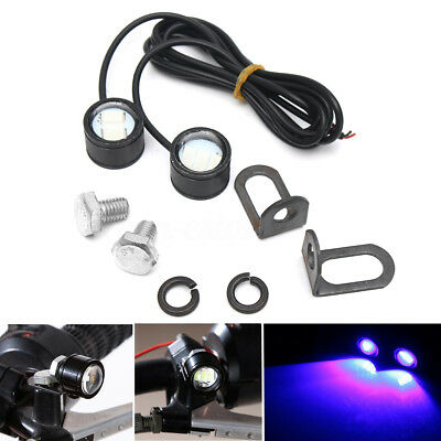 2Pcs Light LED Motorcycle Handlebar Headlight Daytime Driving Fog Lamp Spotlight