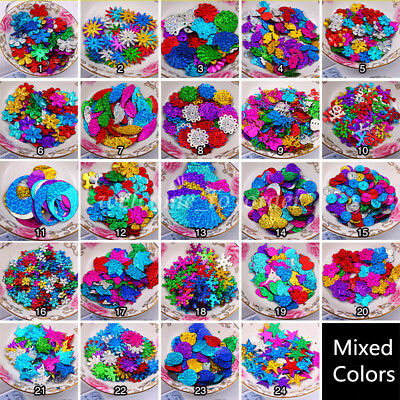 24Style Mixed Colors Shiny Loose Sequins Paillettes DIY Craft Sewing Dress Shoe