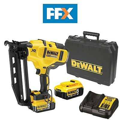 DeWalt DCN660P2 18v XR Li-ion Brushless Second Fix Nailer Nail Gun 2 x 5.0Ah