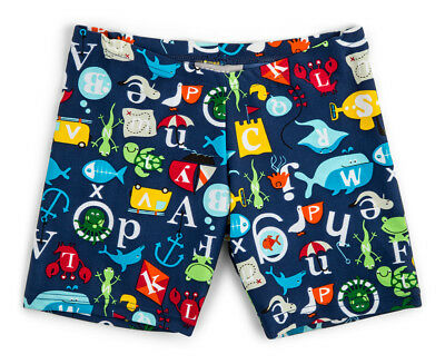 WaveRat Baby/Toddler Boys' Under The Sea ABC Trunk - Navy