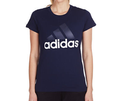 Adidas Women's Essentials Linear Tee - Navy