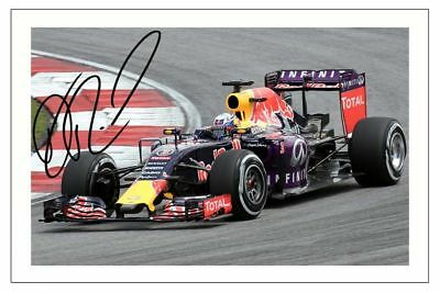 DANIEL RICCIARDO  RED BULL F1 SIGNED 6x4 PHOTO PRINT FORMULA ONE