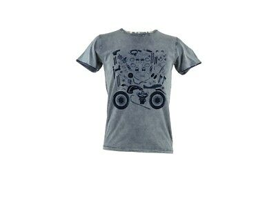 "Men's T-Shirt Moto Guzzi "" Custom Puzzle """