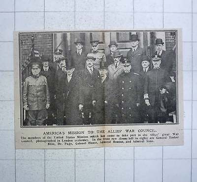 1917 America's Mission To The Allies War Council