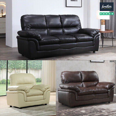 Verona Leather Sofas Suite 3 colours Sofa Set FREE DELIVERY 7 DAYS