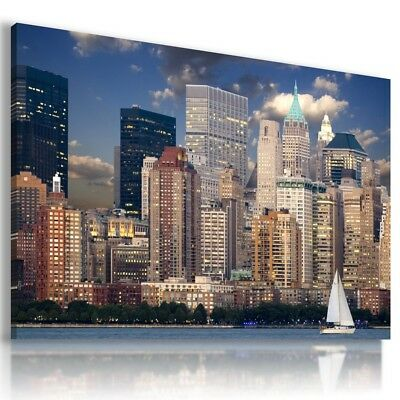 New York Manhattan Modern Canvas Wall Art Picture Large Az262 X Mataga