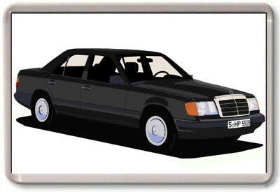 FRIDGE MAGNET -  MERCEDES W124 E-CLASS GRAPHIC CAR ART -  Large