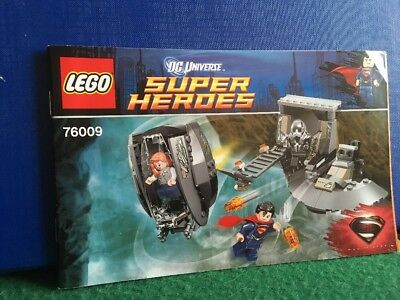 Lego Super Heroes 76009 - Superman Black Zero *instructions Manual Only