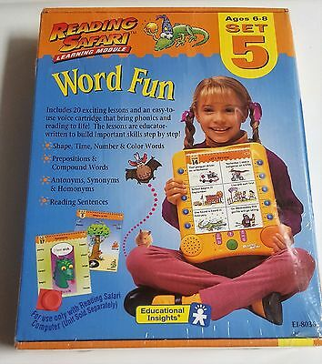 NEW Reading Safari Learning Module word fun set 5 Educational Insights