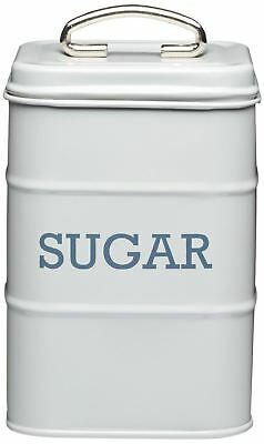 Living Nostalgia Sugar Canister Kitchen Storage Jar Containers Pots - Grey