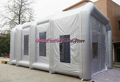 "32'9"" by 19'8"" by 16'4"" custom made portable giant inflatable spray paint booth"