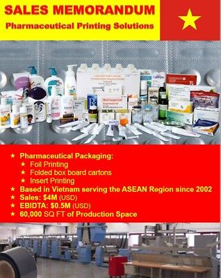 Successful Established Business For Sale - Vietnamese Printing -Stock Assets Etc