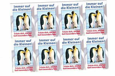 Vintage Penguin Parents & Baby Stickers Postcard Germany card