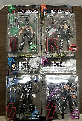 Kiss Ultra Action Figures lot of 4 1997 Mcfarlane New