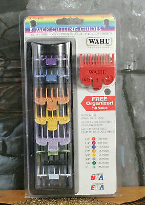 Wahl Professional Guide Attachment Comb Guard Set (8 piece  w/TRAY, black)