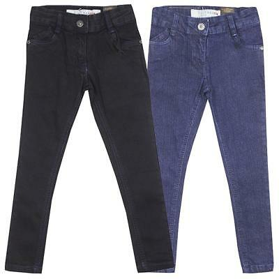 Girls Firetrap Denim Slim Skinny Leg Fashion Jeans Black Dark Blue 2 to 7 Years