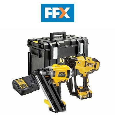 Dewalt DCK264P2 18v 2 x 5.0Ah Li-ion XR 1st and 2nd Fix Nailer Twin Pack