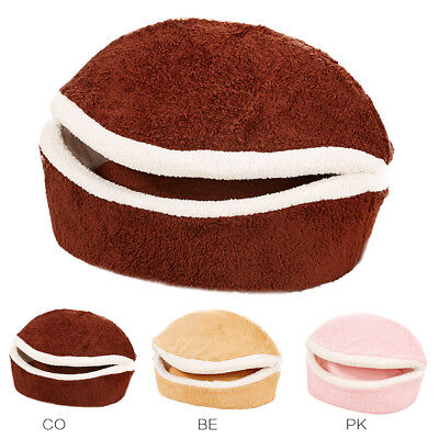 Small Dog Kennel Hamburger Cat Kennels Burger House Products 480g Soft Pet Beds