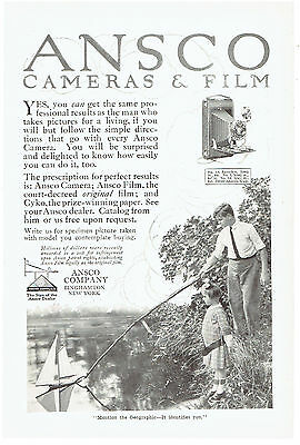 Vintage, Original, 1915 - Ansco Cameras & Film Advertisement