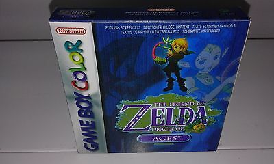 Zelda Oracle Of Ages (Game Boy Color) (Caja + Interior) (Only Box)