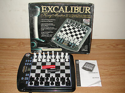 Excalibur 911E-2 King Master Ii 2 In 1 Electronic Chess And Checker Game
