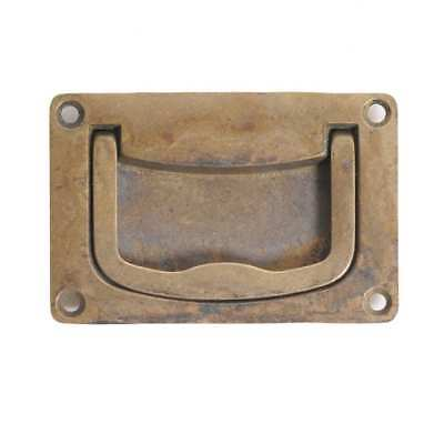 Classic Hardware Vintage Brass Recessed Pull 100111.03 Antique Brass Distressed