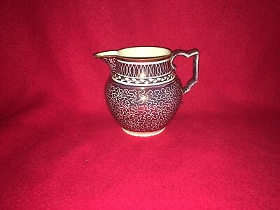 Staffordshire Pink Luster Pitcher Vermicelli Type Pattern Ca. 1815 Pearlware