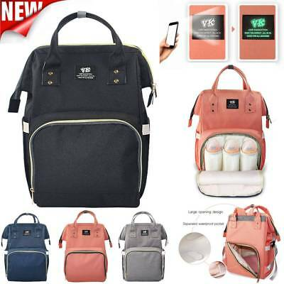 Waterproof Baby Lighting Diaper Nappy Backpack Changing Multifunction Mom Bag UK
