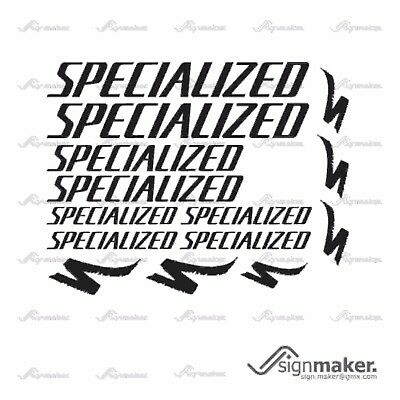 SPECIALIZED 14x Bike Vinyl Decal Stickers Frame Cycle Bicycle