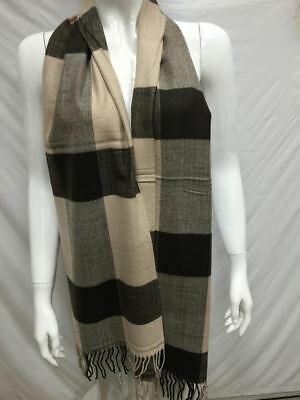 Wholesale 12Pcs 100% Cashmere Scarf Made In Scotland Brown Checked Super Soft