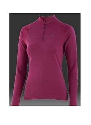 MIZUNO Breath thermo Long Sleeve 1/2 zip femme taille  S  ,  L  ou  XL