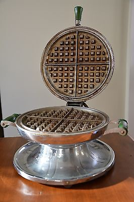 Samson Vintage Chrome Waffle Maker Kitchen Appliance With Cord