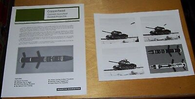 Martin Marietta Copperhead Cannon Launched Guided Projectile Data Sheet + Photo