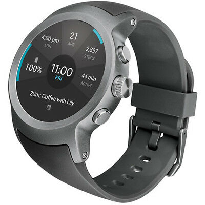 LG Watch Sport LG-W280A Unlocked Wi-Fi Smartwatch w/ Android Wear 2.0 - Titanium
