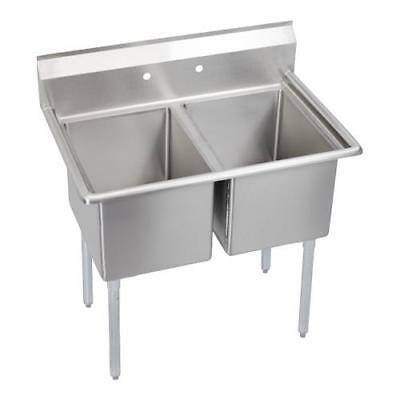 Elkay - E2C24X24-0X - Economy 55 in Two Compartment Sink