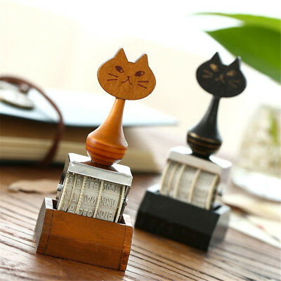 Cat DIY Wheel Stamps Stationery Words Date Month Date Stamp Rolling Design