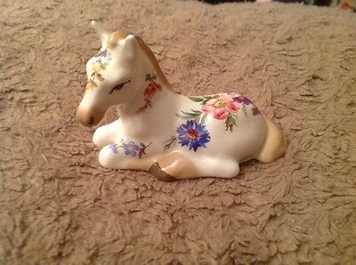 Very Rare Vintage Floral Horse Pony by Szeiler.                           (722)