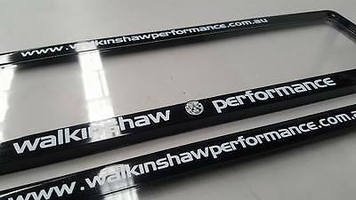 Walkinshaw Performance Number Plate Covers Slim Line For Holden Commodore Hsv Ss