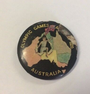 Australia Olympic Games Antwerp 1920 Button Badge