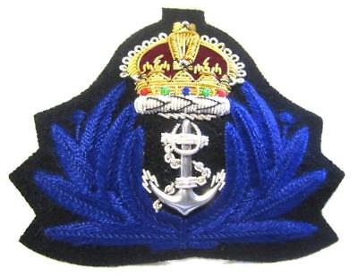 NEW ROYAL NAVY WOMAN OFFICER HAT CAP Bullion Badge KING CROWN CP MADE Hi Quality