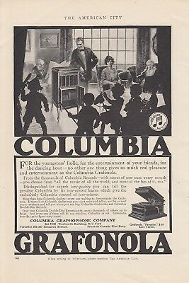 1915 Columbia Graphophone Co New York NY Ad: Youngsters Frolic Grafonola Player
