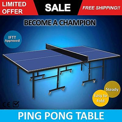 NEW Table Tennis PING PONG TABLE - ITTF APPROVED size 274x152 net FREE DELIVERY