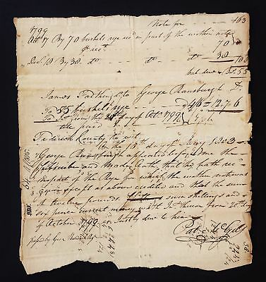 1799 antique HANDWRITTEN PROMISORY NOTE frederic county md FARTHING RAMSBURGH